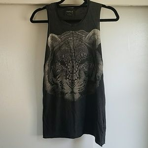 All Saints Tiger Graphic Muscle Tee